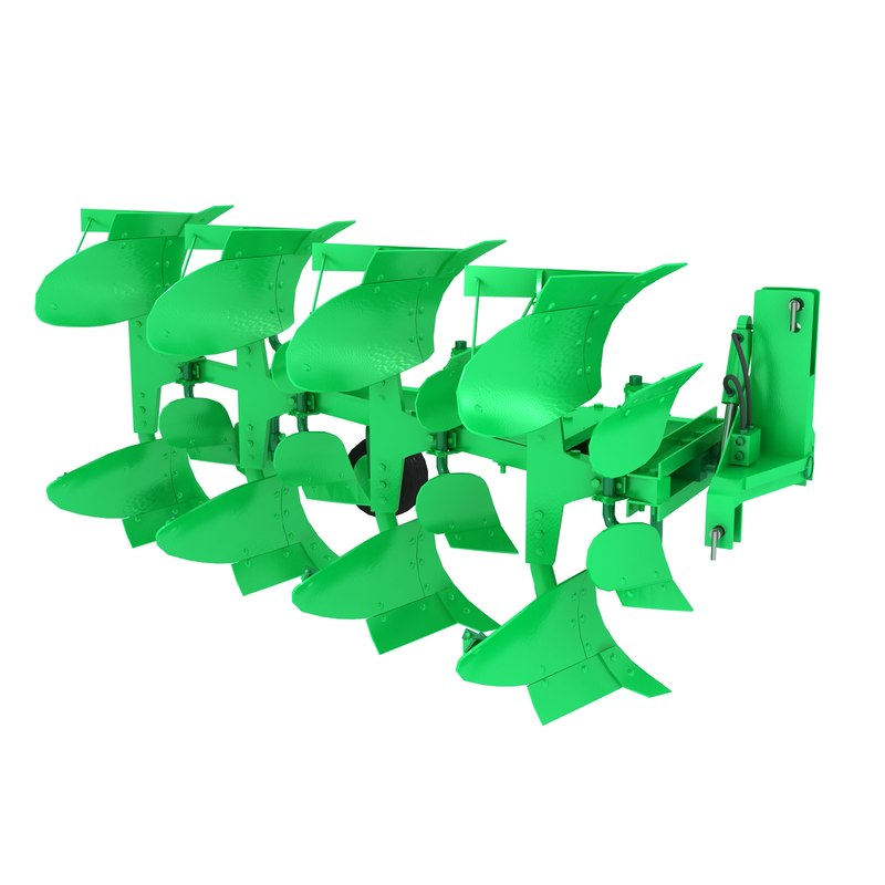3d plow rotated model