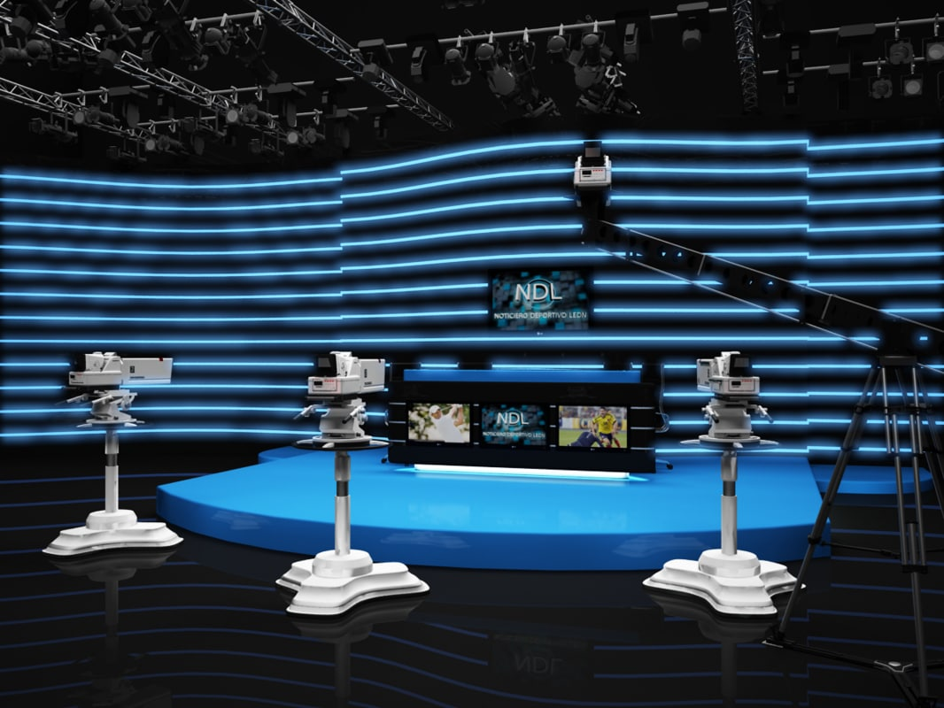 scene virtual sport news set max