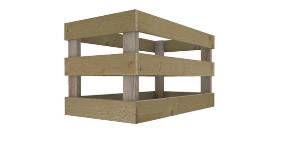 3d model small crate