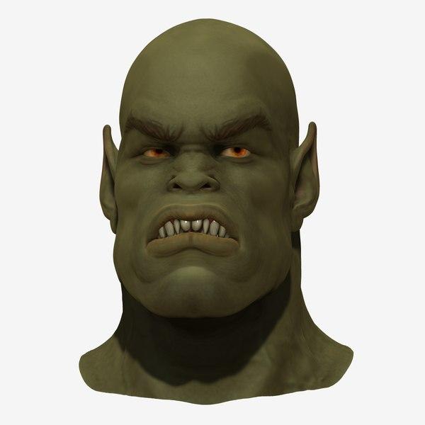 free orc head 3d model