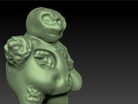 gross zombie 3d model