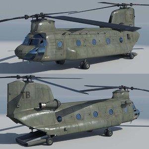 3d chinook ch47 helicopter model