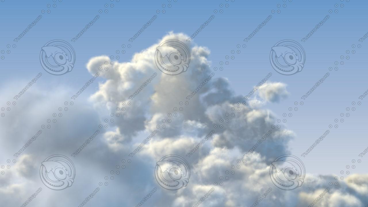 3d clouds sky model