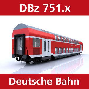 3d model passenger deutsche bahn