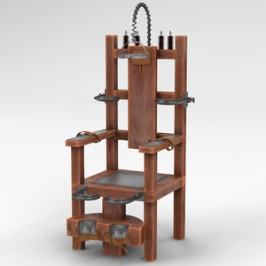 3d model of electric chair