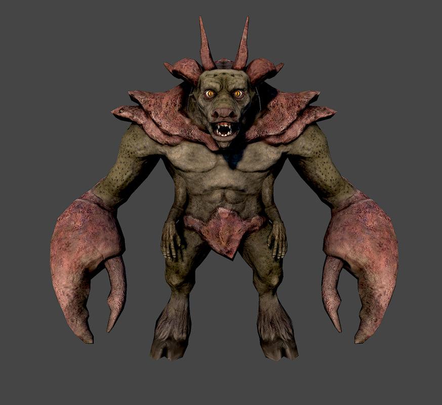 3ds demon glabrezu
