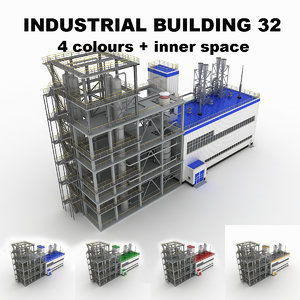 medium industrial building 32 3d 3ds
