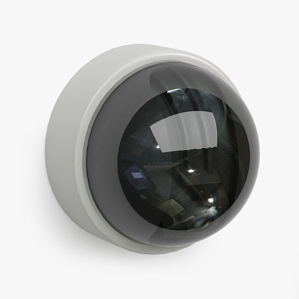 3d model security camera