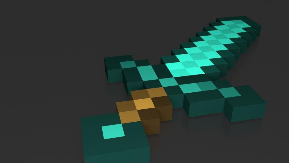 maya minecraft sword