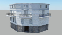 3d model of old building