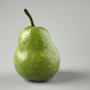 3d green pear model