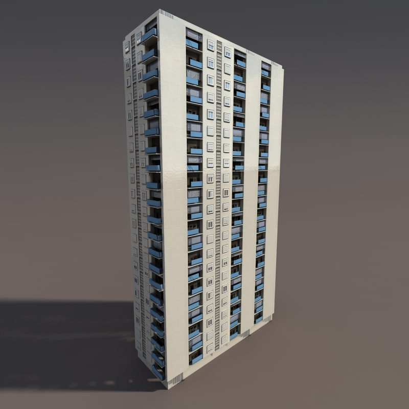 high-rise building modelled max