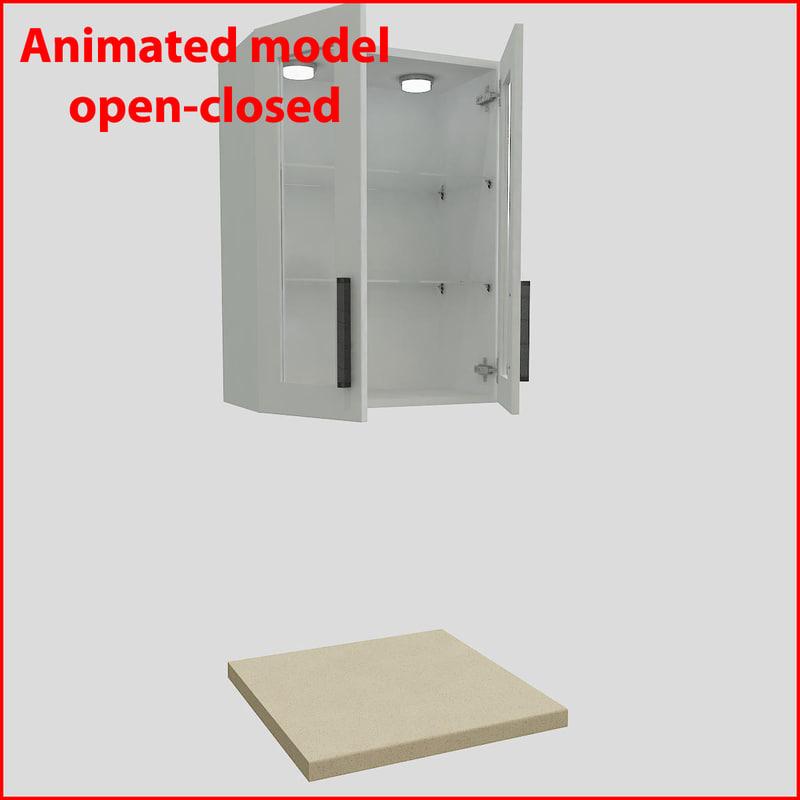 3d model kitchen furnitures 60 cm