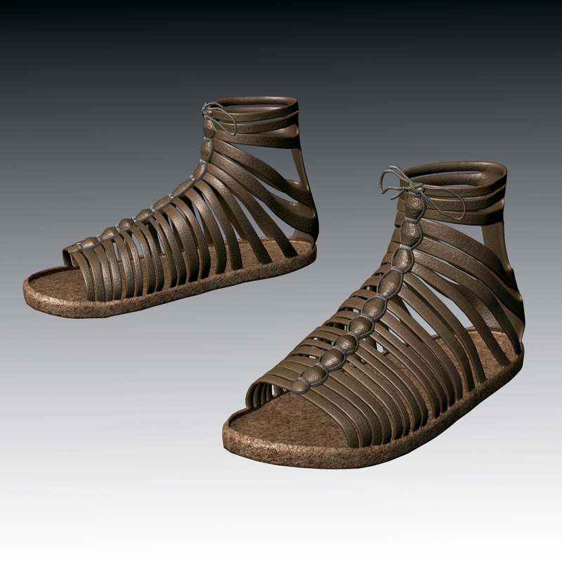 3702d50bd9d180 3d model roman sandals