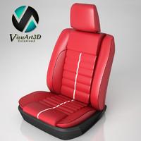 gt car seat 3d model