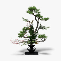 3d ikebana rikka model
