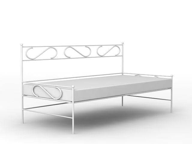 metal sofa 3d model