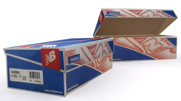3d model new shoe box 1