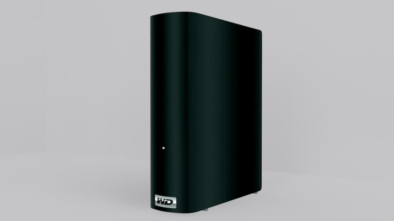 3d model western external hard disk