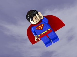 3d model superman lego