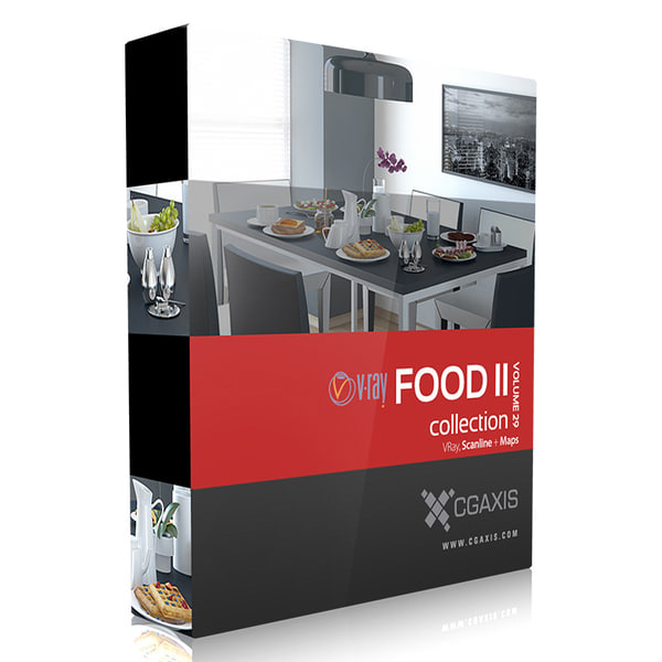 cgaxis volume 29 food 3d ma