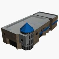 city town building 3d max