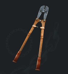 3d bolt cutters