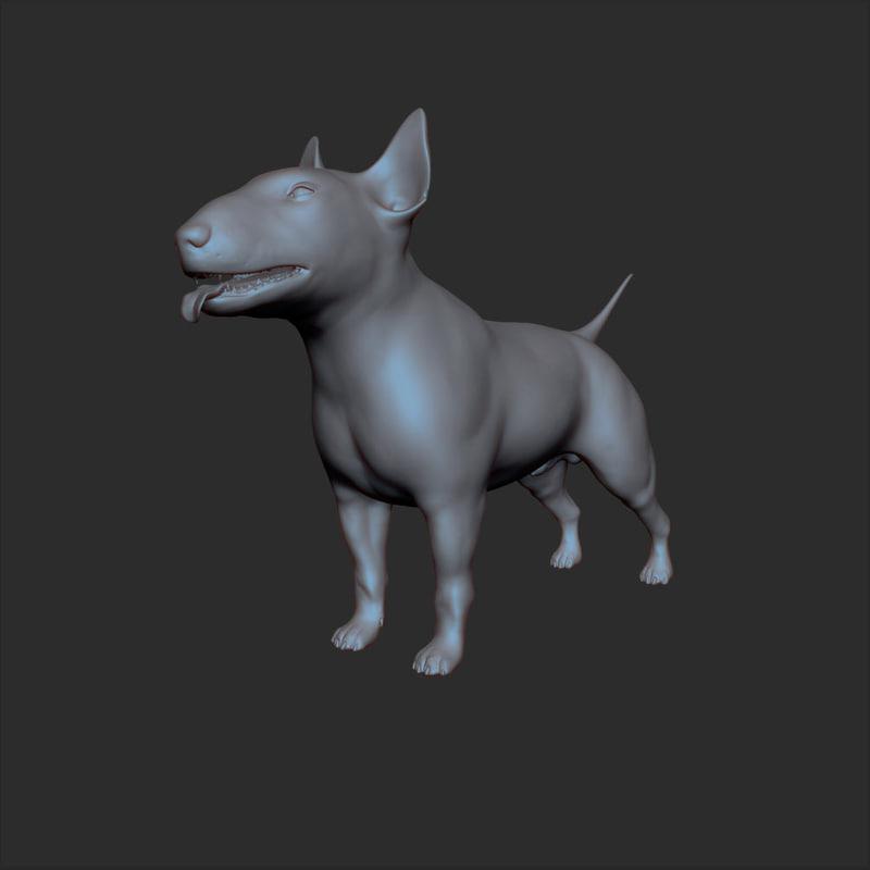 3d 3ds bull terrier