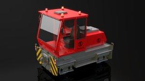 3d model translok train machine
