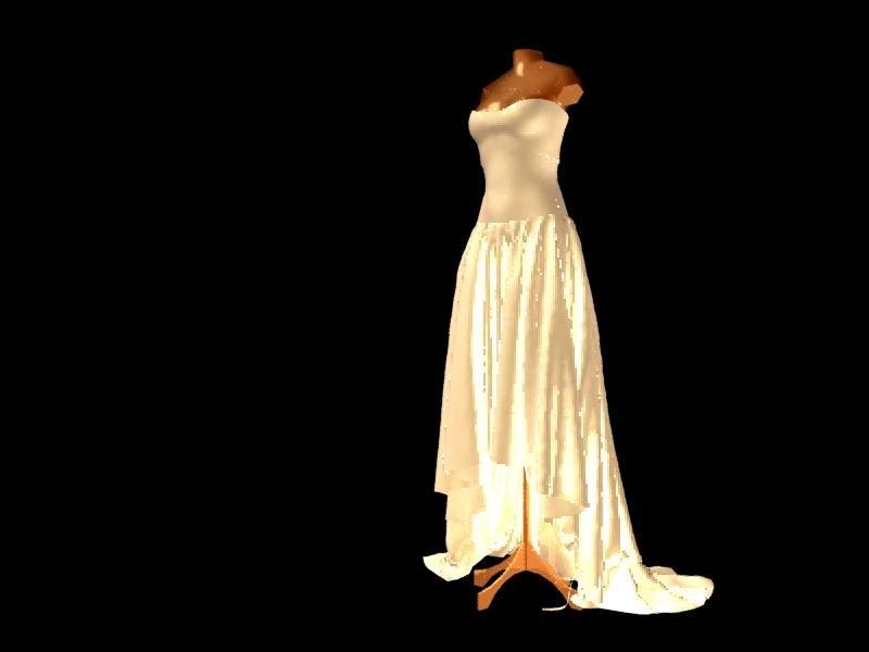 3d sketchup wedding dress free