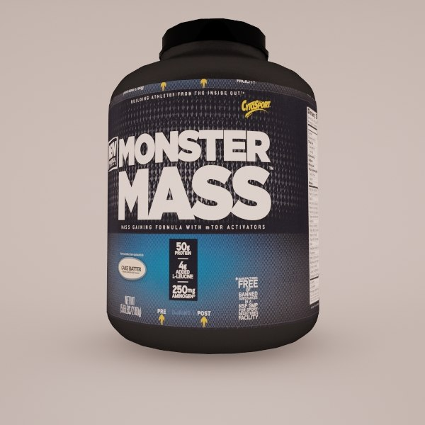3d monster mass model