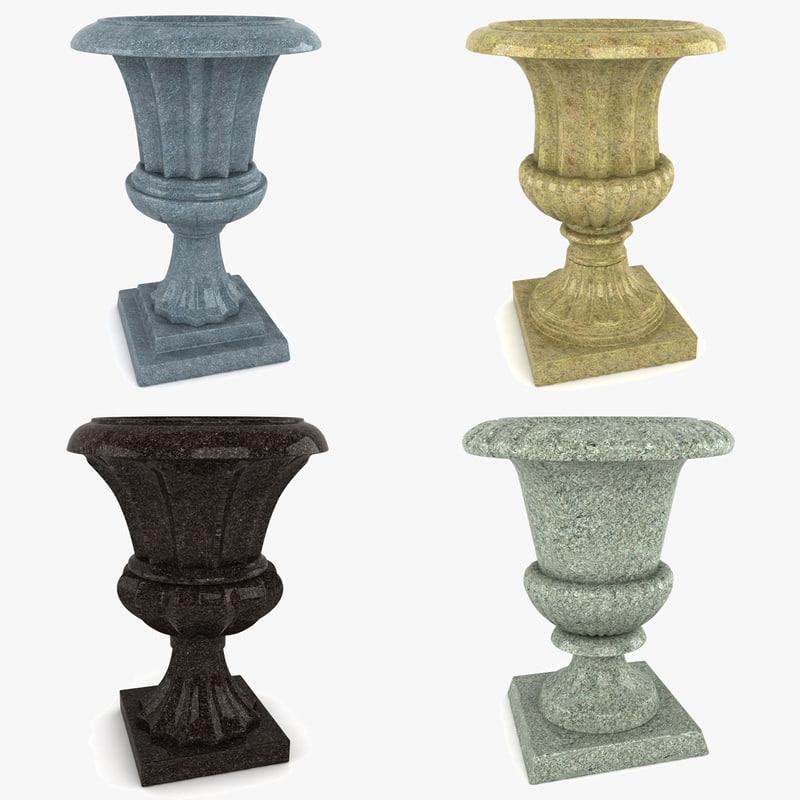 3d 3ds garden urn