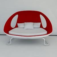 sofa gefeva modern 2011 3d max