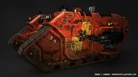 3d model battle tank land raider