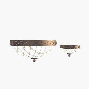3d 2 ceiling lamps