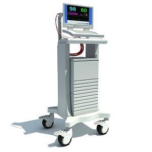 medical equipment 3d obj