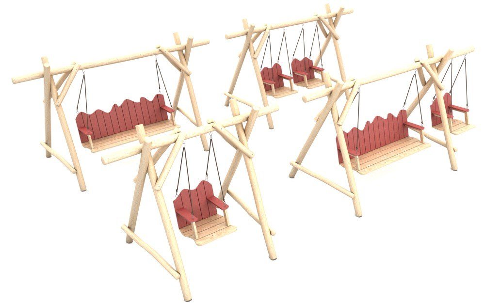 3d model of wooden playground