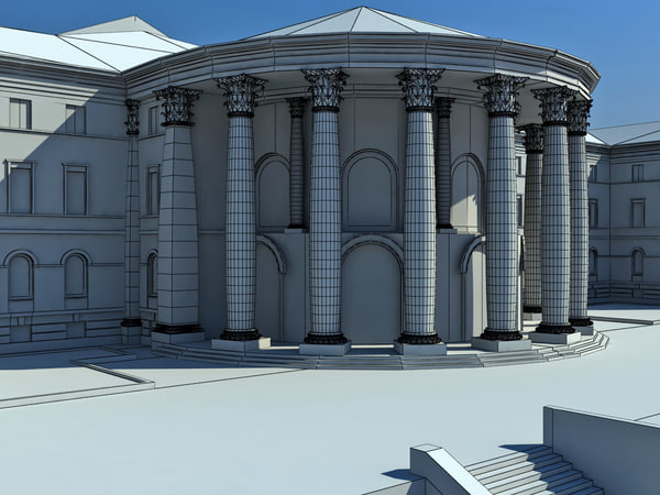 october palace classic building 3d model