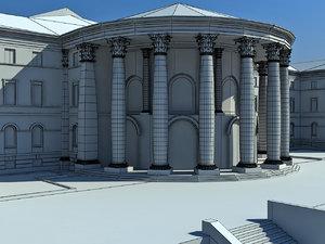 october palace classic building 3d model