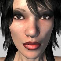 3dsmax realistical woman chandra