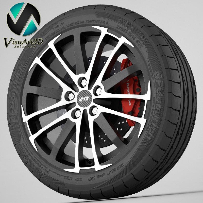 3d model wheel ats x-treme
