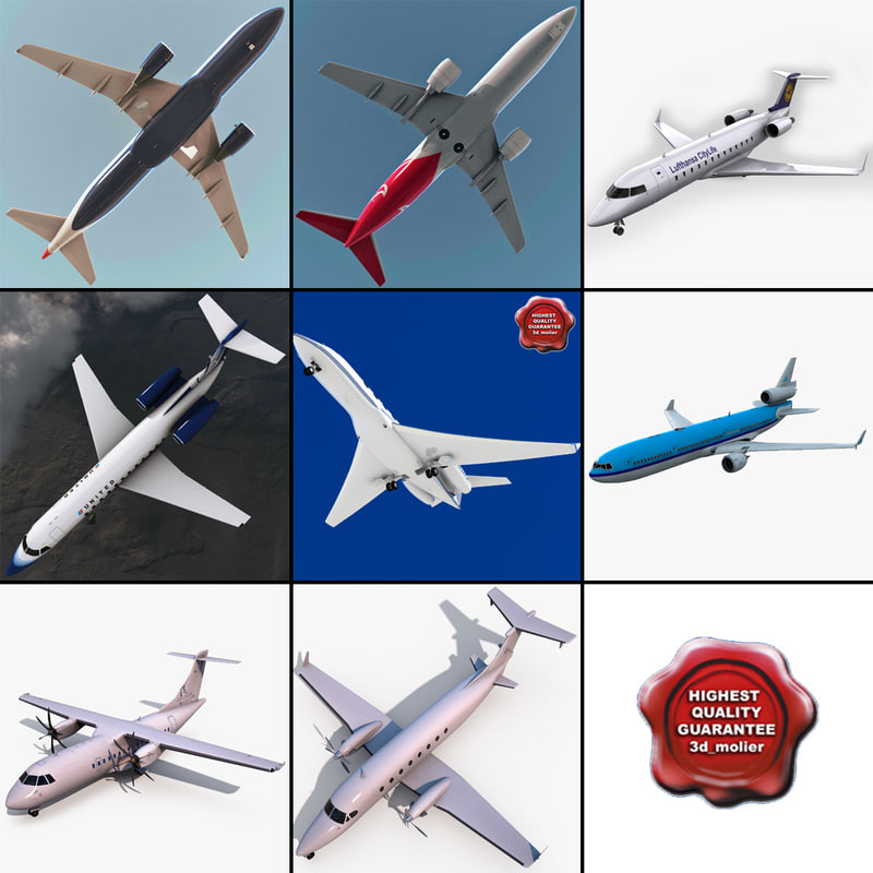 3ds passenger aircrafts v3