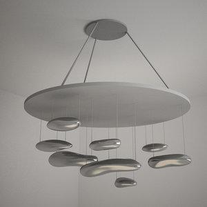 artemide mercury suspension lamp 3d max