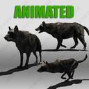 black wolf 3D models