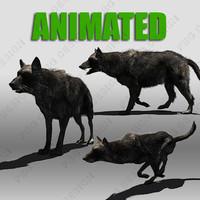 Black Wolf Animated