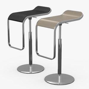 bar 2 chair barhocker 3d model