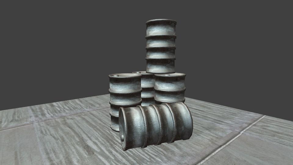 3d model of barrel