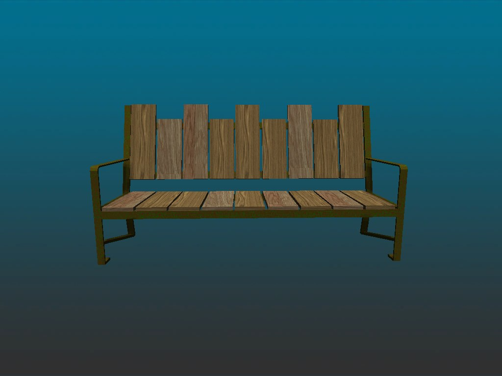 3ds max bench