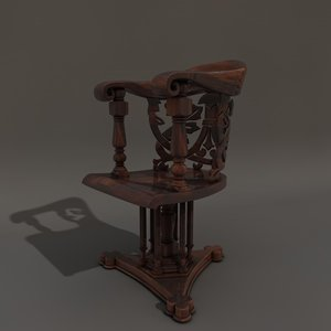 3d model of victorian chair