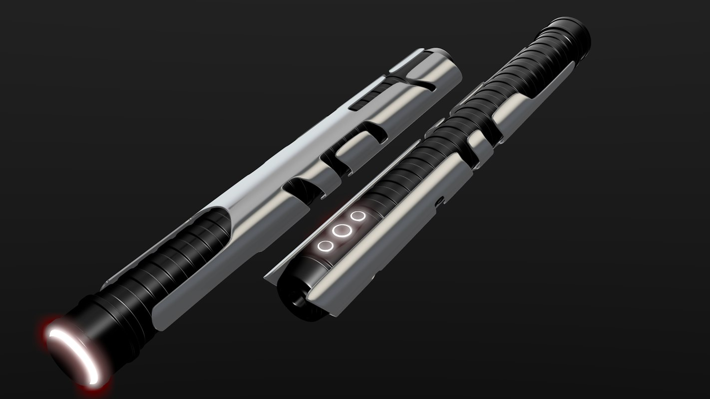 sith clone lightsaber 3d model